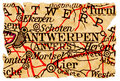 Antwerp old map Royalty Free Stock Images