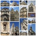 Antwerp photos photo collage from belgium collage includes major landmarks like the cathedral and main square Stock Image