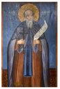 Antyczna ikona od monasteru panayia kera island crete Zdjęcie Stock