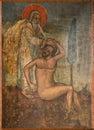 Antyczna ikona od monasteru panayia kera island crete Zdjęcie Royalty Free