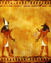 Anubis and Horus Stock Images