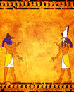 Anubis and horus background with egyptian gods images Stock Images