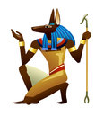Anubis vector drawing of ancient egyptian god Stock Images
