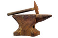 Anvil and hammer Royalty Free Stock Photo