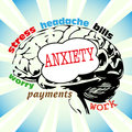 Anxiety concept Stock Image