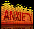 Anxiety concept illustration depicting equilizer levels with an Stock Photos