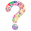 Any questions an abstract illustration of one big question mark Royalty Free Stock Images