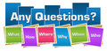 Any Questions Colorful Squares Stripes Royalty Free Stock Photo