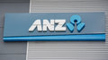 Anz photo of bank sign Royalty Free Stock Photography