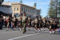 Anzac Day Parade of Bagpipers in Fremantle, Western Australia Royalty Free Stock Photo