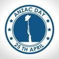 Anzac day 25th april logo