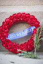 Anzac day wreath of poppies rosemary symbolising remembrance is popular on Royalty Free Stock Photography