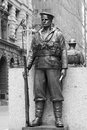 Anzac soldier martin place sydney Royalty-vrije Stock Foto's