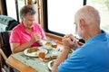 Anziani di rv - dire tolleranza Fotografia Stock Libera da Diritti