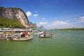 Ao phang nga national park koh panyee a muslim sea gypsy fishing village southern of thailand Stock Images