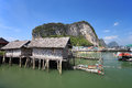 Ao phang nga national park koh panyee a muslim sea gypsy fishing village southern of thailand Stock Image