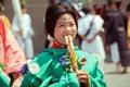 Aoi matsuri festival in summer time at kyoto Stock Photos