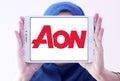AON insurance logo Royalty Free Stock Photo