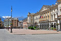 Aosta old town italy june view of the square of on june is the capital and largest city of val d region italy Stock Image