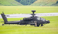 Apache helicopter army attack landing at raf cosford airfield june th Royalty Free Stock Photos