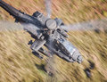 Apache helicopter flying Royalty Free Stock Photo