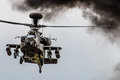 Apache Helicopter Hovering Royalty Free Stock Photo