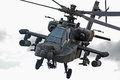 Apache helicopter is looking straight into the camera Stock Photo