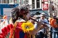 Apache indians - Koninginnedag 2012 Royalty Free Stock Photo