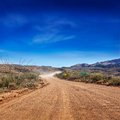 Apache trail dirt road pavement ends on the through the tonto national forest arizona Stock Photography