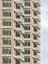 Apartment building with balconies Royalty Free Stock Photo