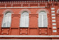 Apartment building front view, St. Petersburg, Russia Royalty Free Stock Photo