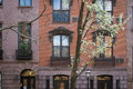 Apartment building manhattan new york city old in greenwich village Stock Photography