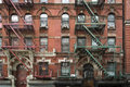 Apartment building manhattan new york city old in greenwich village Stock Image