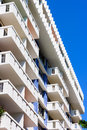 Apartment building in miami beach florida white and blue colors of miamin modern Royalty Free Stock Images