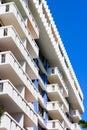 Apartment building in Miami Beach, Florida. Royalty Free Stock Photo