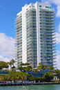Apartment building at Miami Beach. Royalty Free Stock Photo