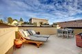 Apartment building roof top terrace exterior. Royalty Free Stock Photo