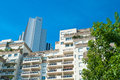 Apartment building tall and a bit outdated in the city center of paris france Royalty Free Stock Photos