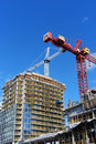 Apartment building under construction Royalty Free Stock Images