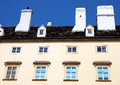 An apartment building in Vienna, Austria. Royalty Free Stock Photo