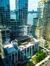 Apartment buildings in manhattan views of the city of new york overlooking a modern complex Stock Photography