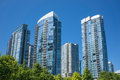 Apartment buildings modern in vancouver canada Stock Photo