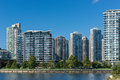 Apartment buildings new in downtown vancouver Royalty Free Stock Image