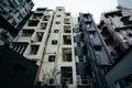 Apartment buildings in SoHo, in Hong Kong, Hong Kong. Royalty Free Stock Photo
