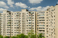 Apartment flats communist in romania Royalty Free Stock Images