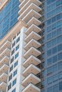 Apartment home balconies close up Royalty Free Stock Photo