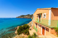 Apartment house view bay beach mountains camp de mar majorca island spain Royalty Free Stock Images