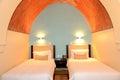 Apartment in the luxury hotel in night illumination Royalty Free Stock Photo