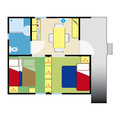 Apartment plan for web and print use Stock Photos