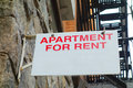 Apartment for rent an sign in new york city Royalty Free Stock Images
